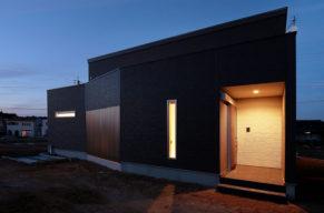 中庭のある木造住宅